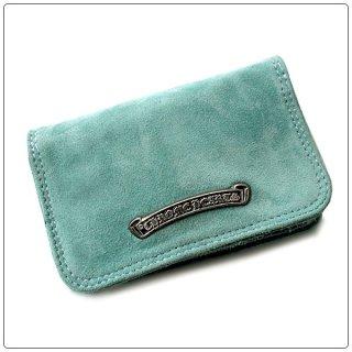クロムハーツ 財布(Chrome Hearts)カードケース#2 グロメット/スクロール ターコイズ スエードレザーウォレット【クロム・ハーツ】【クロムハーツ財布】【名古屋】