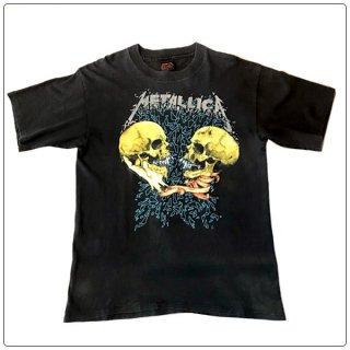 METALLICA (メタリカ) 1991 PUSHEAD/パスヘッド グラフィック ヴィンテージ バンド Tシャツ ショートスリーブ 半袖 1991 コピーライト