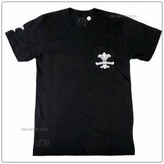 """クロムハーツ(Chrome Hearts)Tシャツ メンズショートスリーブ/半袖 ポケット クルー 737 ブラック """"Sサイズ""""【クロム・ハーツ】【クロムハーツ財布】【名古屋】"""