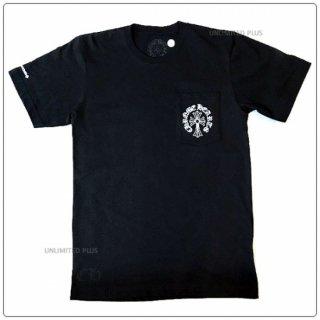 """クロムハーツ(Chrome Hearts)Tシャツ メンズショートスリーブ/半袖 ポケット クルー 741 ブラック """"Sサイズ""""【クロム・ハーツ】【クロムハーツ財布】【名古屋】"""