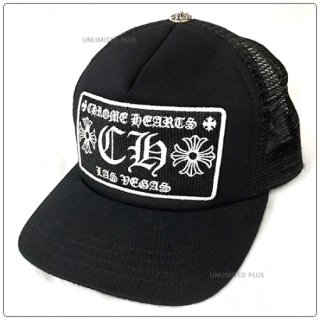 <img class='new_mark_img1' src='https://img.shop-pro.jp/img/new/icons14.gif' style='border:none;display:inline;margin:0px;padding:0px;width:auto;' />クロムハーツ(Chrome Hearts)ハット/キャップ トラッカーキャップ +CH+ ブラック×ブラック ラスベガス限定【クロム・ハーツ】【クロムハーツ財布】【名古屋】