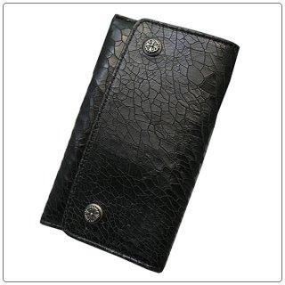 クロムハーツ 財布(Chrome Hearts)スリムブラック デザート グロスレザー ウォレット【クロム・ハーツ】