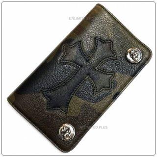 クロムハーツ 財布(Chrome Hearts)1ジップ L&T ボタン セメタリーパッチ タンクカモ レザー ウォレット【クロム・ハーツ】
