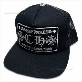 <img class='new_mark_img1' src='https://img.shop-pro.jp/img/new/icons14.gif' style='border:none;display:inline;margin:0px;padding:0px;width:auto;' />クロムハーツ(Chrome Hearts)ハット/キャップ トラッカーキャップ +CH+ ブラック×ブラック【クロム・ハーツ】【クロムハーツ財布】【名古屋】