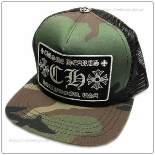<img class='new_mark_img1' src='https://img.shop-pro.jp/img/new/icons14.gif' style='border:none;display:inline;margin:0px;padding:0px;width:auto;' />クロムハーツ(Chrome Hearts)ハット/キャップ トラッカーキャップ +CH+ タンクカモ×ブラック【クロム・ハーツ】【クロムハーツ財布】【名古屋】