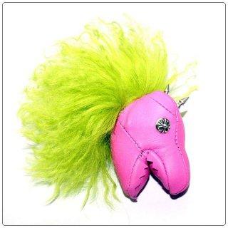 クロムハーツ(Chrome Hearts)キーリング ダイナソー ブライト ピンク レザー【クロム・ハーツ】【クロムハーツ財布】【名古屋】