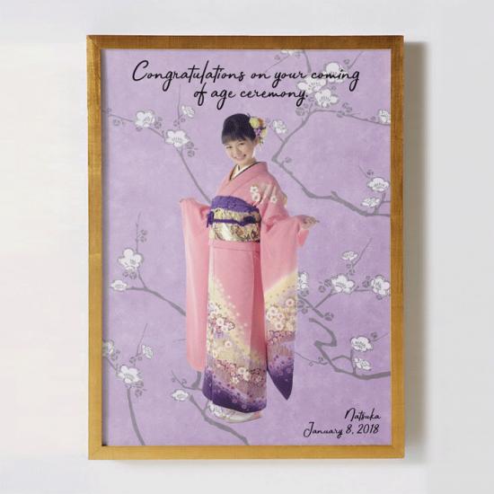 着物の撮影写真で作るモデル風オリジナルポスター 〜UME〜 【成人式の記念に】