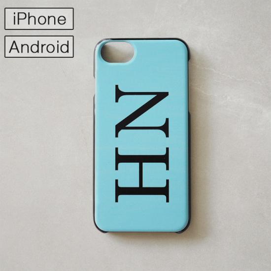 マイスマホケース -NAME・イニシャル- ベビーブルー/iPhone・Android対応