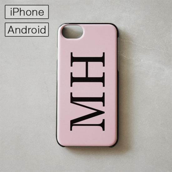マイスマホケース -NAME・イニシャル- ピンク/iPhone・Android対応