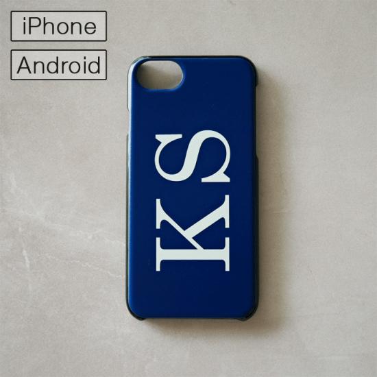 マイスマホケース -NAME・イニシャル- ネイビー/iPhone・Android対応