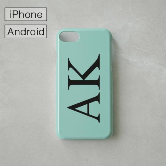 Myスマホケース -NAME・イニシャル- ミント/iPhone・Android対応