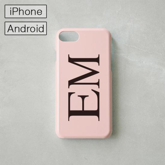 Myスマホケース -NAME・イニシャル- ピンク/iPhone・Android対応