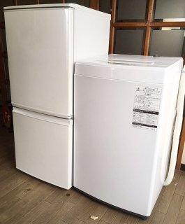 【セット販売  ID :  S-004】<br>冷蔵庫:シャープ/2016年製/137リットル<br>洗濯機:東芝/2017年製/4.5kg