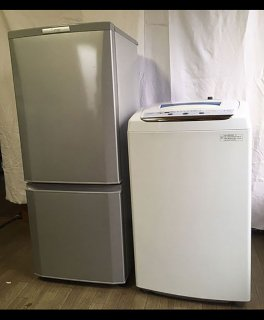 【セット販売 S-003】<br>冷蔵庫:三菱/2015年製/146リットル<br>洗濯機:ARION/2016年製/4.5kg
