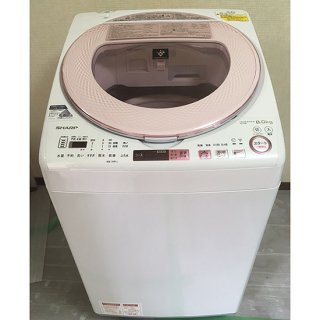 洗濯機【W-012】<br>SHARP/2017年製/<br>8kg