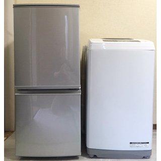 【セット販売 ID : S-016】<br>冷蔵庫:SHARP/2017年製/137リットル<br>洗濯機:日立/2017年製/5kg