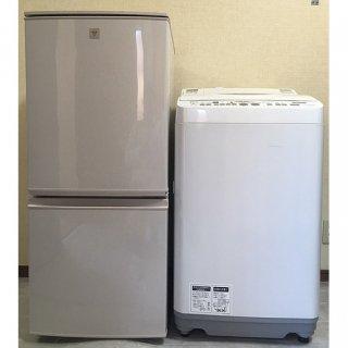 【セット販売 ID : S-023】<br>冷蔵庫:SHARP/2016年製/137リットル<br>洗濯機:SHARP/2015年製/6kg <br>※乾燥機能つき