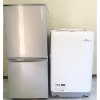 【セット販売 ID : S-028】<br>冷蔵庫:SHARP/2014年製/137リットル<br>洗濯機:SHARP/2014年製/6kg