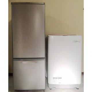 【セット販売 ID : S-030】<br>冷蔵庫:Panasonic/2015年製/168リットル<br>洗濯機:SHARP/2017年製/6kg