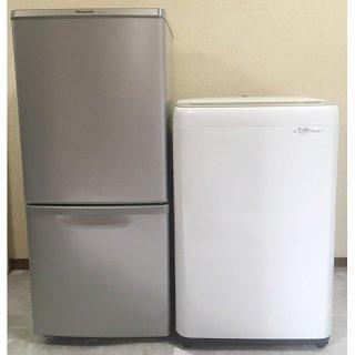【セット販売 ID : S-031】<br>冷蔵庫:Panasonic/2017年製/138リットル<br>洗濯機:Panasonic/2018年製/5kg