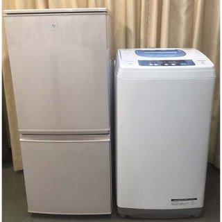 【セット販売 ID : S-041】<br>冷蔵庫:SHARP/2015年製/137リットル<br>洗濯機:日立/2015年製/5kg