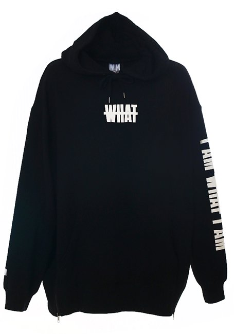 【MEN】What Oversized Hoodie - BLACK