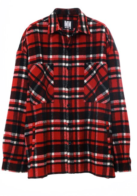 【MEN】Check Shirt JK - RED & BLACK(数量限定)