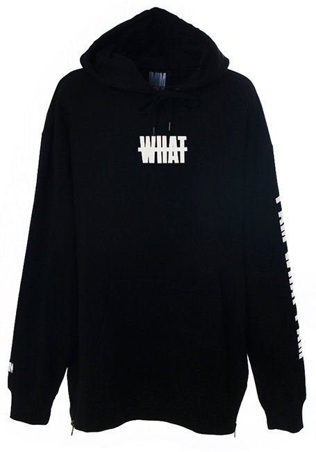 【WOMEN】What Oversized Hoodie - BLACK