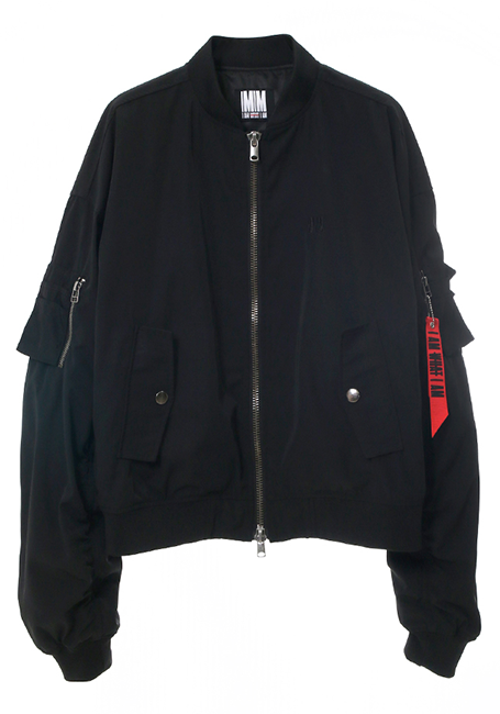 【MEN】Bomber Jacket - BLACK