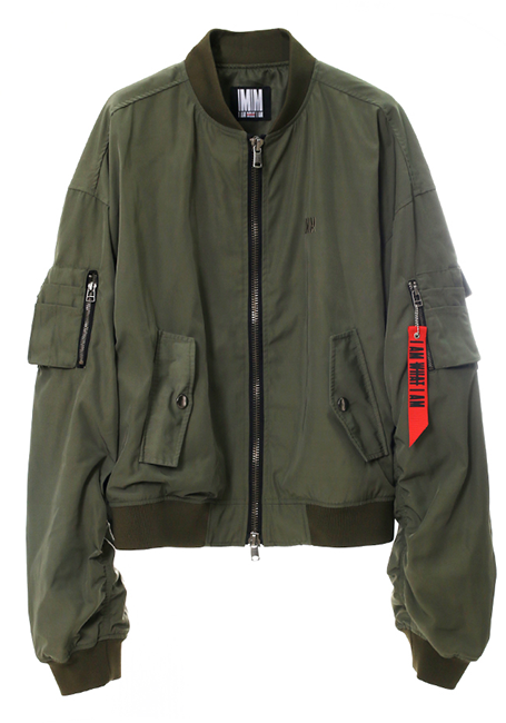 【MEN】Bomber Jacket - KHAKI