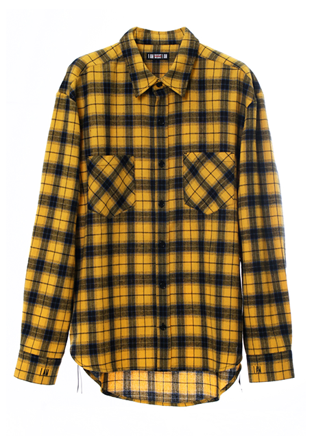 【MEN】IMIM Checked Shirt - YELLOW×BLUE