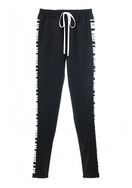【MEN】IMIMI Trackpant - BLACK×WHITE
