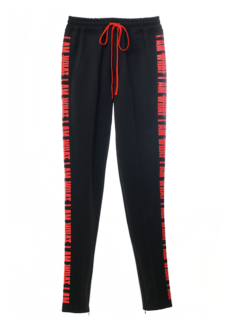 【MEN】IMIMI Trackpant - BLACK×RED