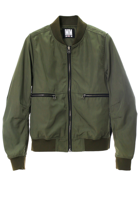 【WOMEN】Side Slits Bomber Jacket - KHAKI