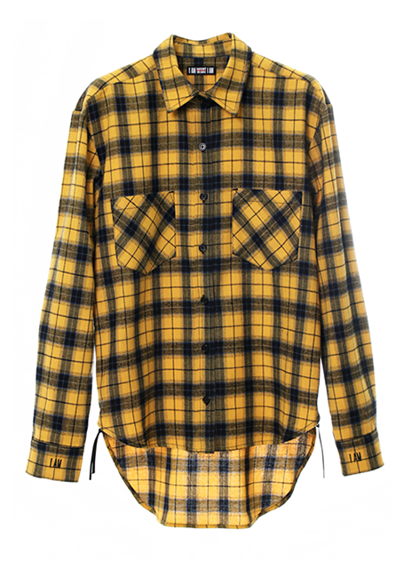 【WOMEN】IMIM Checked Shirt - YELLOW×BLUE