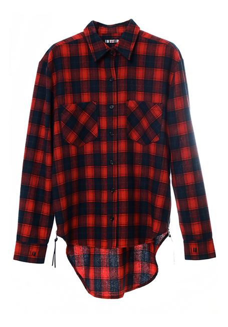 【WOMEN】IMIM Checked Shirt - RED×NAVY