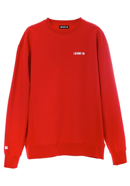Logo Print Sweatshirt - RED