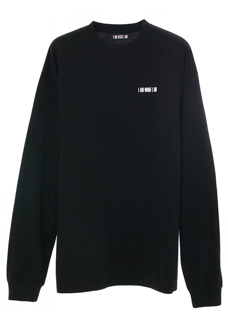 Back Logo Long Sleeve T-shirt - BLACK