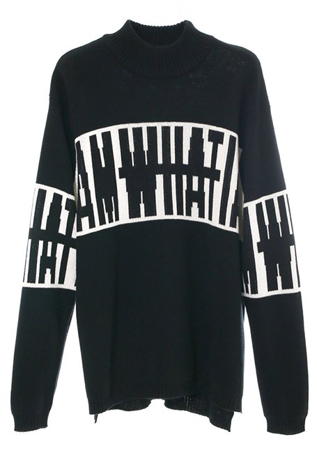 Big Logo Sweater - BLACK