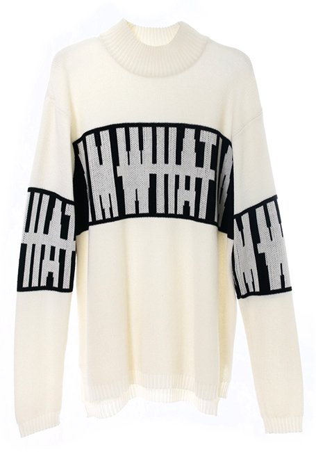 Big Logo Sweater - WHITE