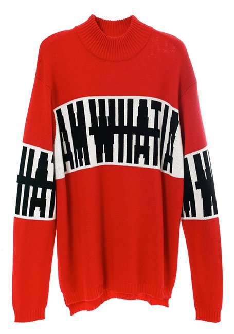 Big Logo Sweater - RED