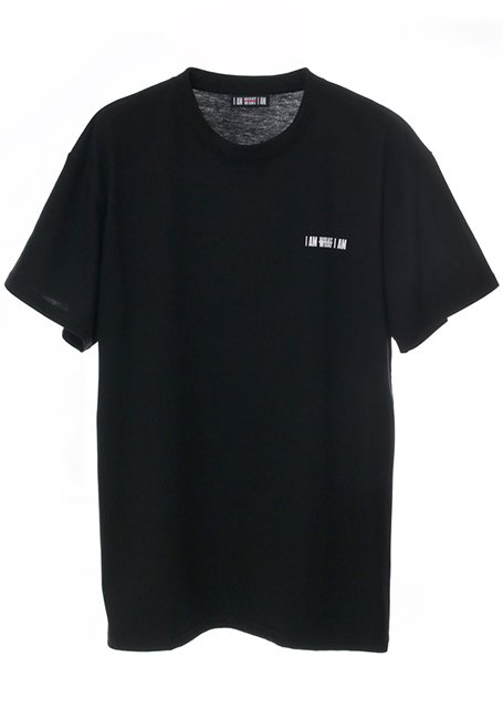 Back Line Logo T-shirt - BLACK
