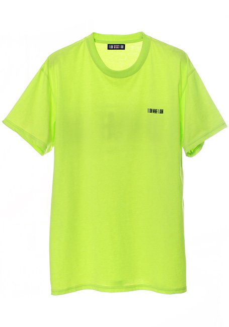 Back Line Logo T-shirt - NEON YELLOW