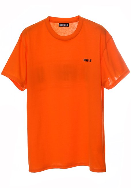Back Line Logo T-shirt - NEON ORANGE