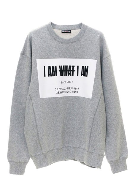 Front Square Logo Oversized Sweatshirt - GRAY
