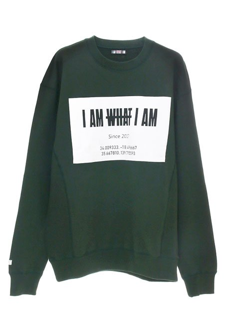 Front Square Logo Oversized Sweatshirt - GREEN