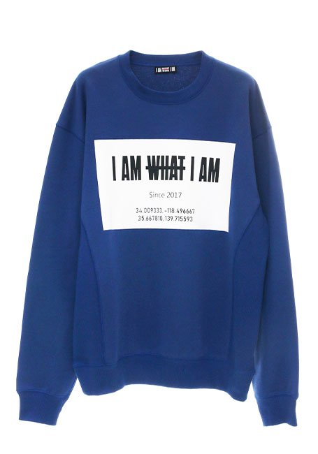 Front Square Logo Oversized Sweatshirt - BLUE