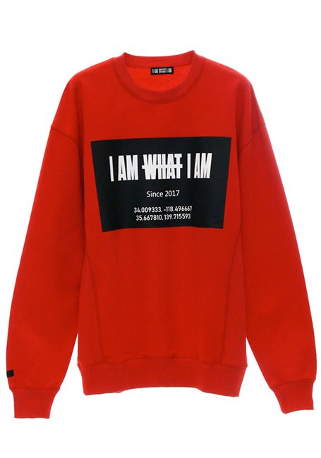 Front Square Logo Oversized Sweatshirt - RED