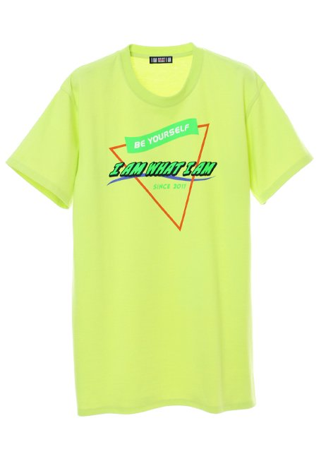 Triangle Logo T-shirt - NEON YELLOW