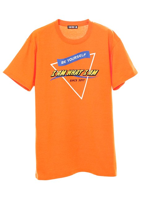 Triangle Logo T-shirt - NEON ORANGE